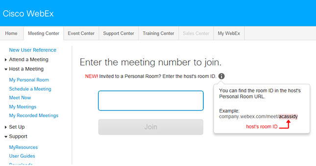 Join a meeting - enter meeting number