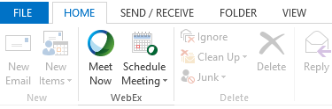 Outlook integration - Meet Now and Schedule Meeting
