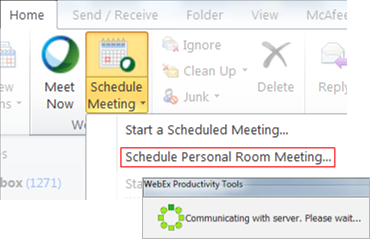 End Webex Personal Room Meeting