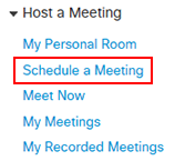 Schedule a meeting option