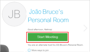Start a Personal Room meeting as an Alternate Host
