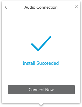 Installation succeeded - Connect now