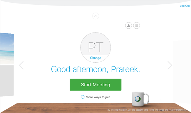 Personal Room - Start meeting