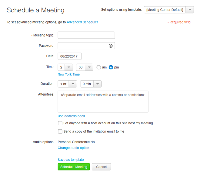 Quick Scheduler - Schedule a meeting