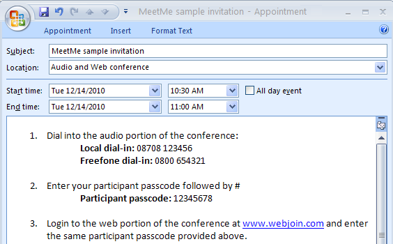Webjoin support bt conferencing sample bt meetme invitation stopboris